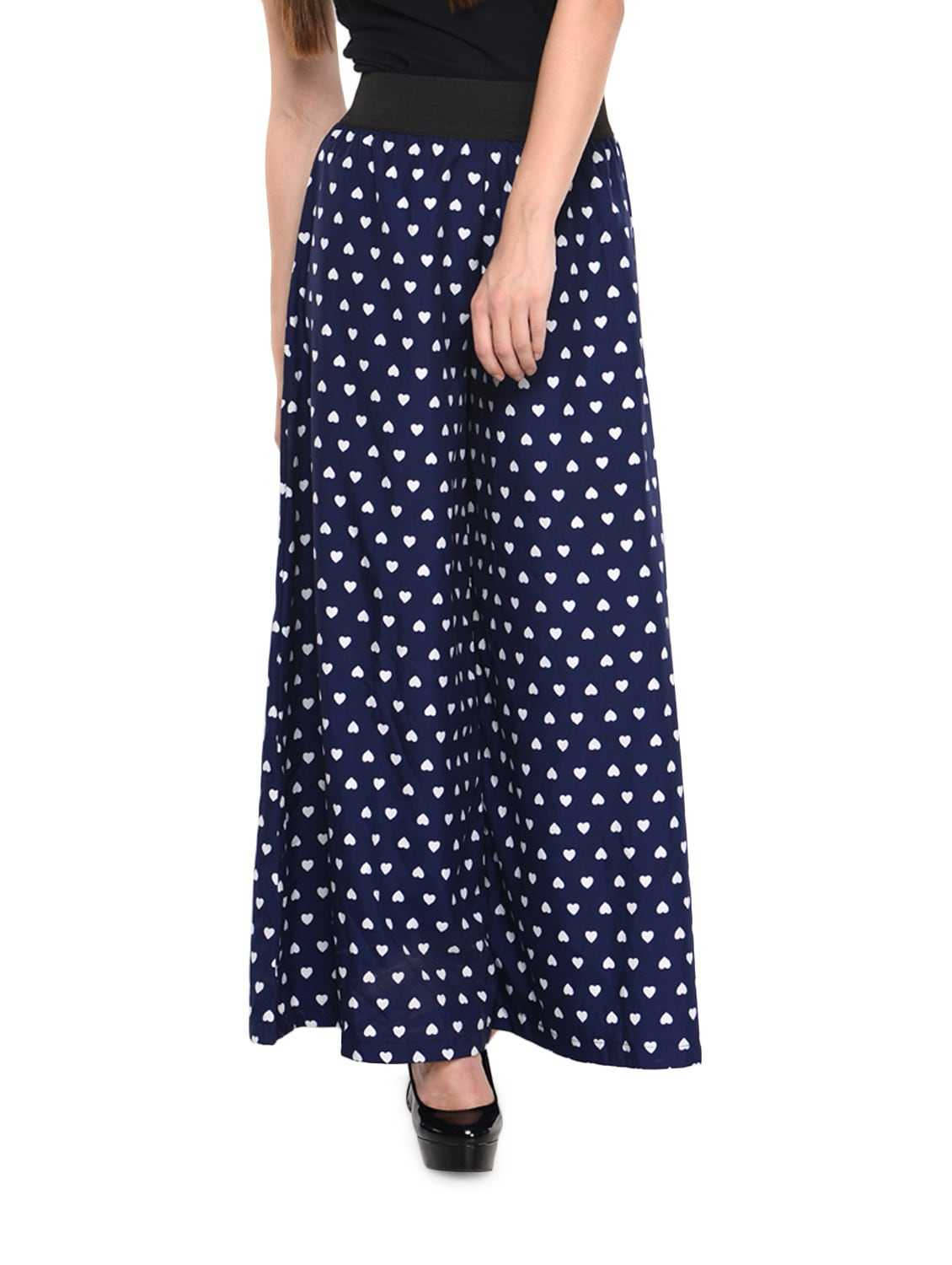 66256d9d331 Buy Blue Heart Print Palazzo Pants by Gracediva - Online shopping for  Palazzos in India