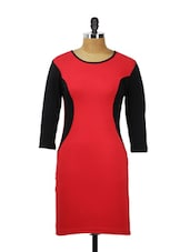 Vibrant Red Sleeves With Black Sides - AKYRA