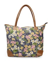 Multi-coloured floral print tote bag -  online shopping for Totes