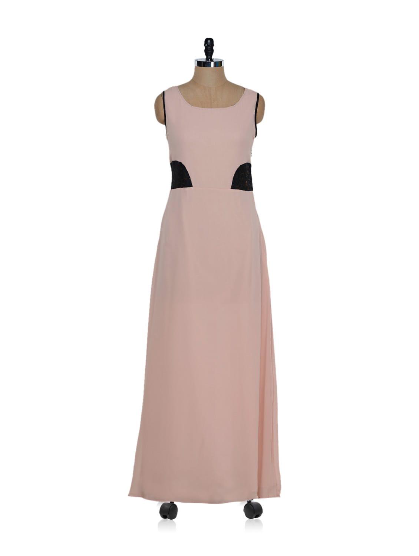 Peach And Black Maxi Dress - Eavan