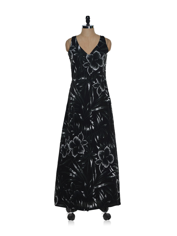 Black Floral Maxi Dress - Eavan