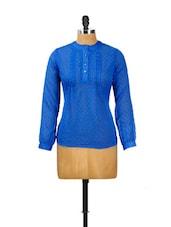 Swiss Dobby Royal Blue Shirt - CHERYMOYA