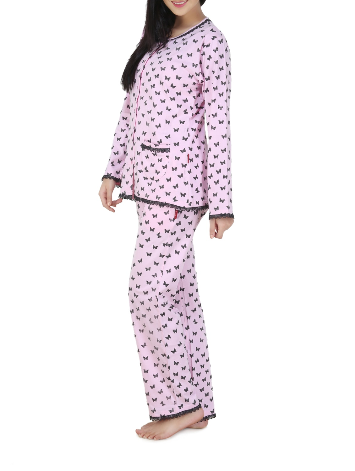 86073ce23a Buy Baby Pink And Black Pajama Set by Nite Flite - Online shopping for  Nightwear Sets in India