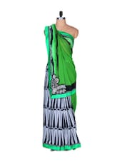 Green And Black Art Silk Saree - Saraswati
