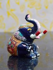 Meenakari Metal Child Elephant Statue - ECraftIndia