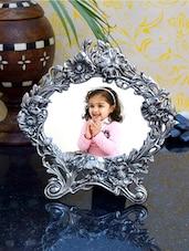 Fantastic White Metal Photo Frame - ECraftIndia