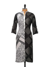Black And Grey Printed Kurta - Kaccha Taanka
