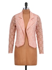 Light Pink Lace Jacket - Schwof