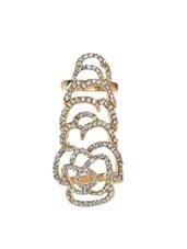 Crystal Studded Double Ring - YOUSHINE