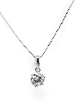 Sterling Silver Diamond Pendant - Tanya Rossi, Italy