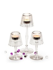 Glass Tealight Lamps (Set Of 3) - Importwala