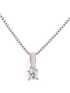 Sterling Silver Diamond Pendant - Tanya Rossi, Italy 9032