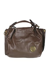 Dark Brown Spacious Bag - SATCHEL Bags