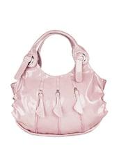 Baby Pink Triple Zip Spacious Tote Bag - SATCHEL Bags
