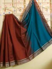 Dual Toned Cotton Silk Saree - Cotton Koleksi