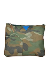 Green Army Prints Medium Pouch - HARP