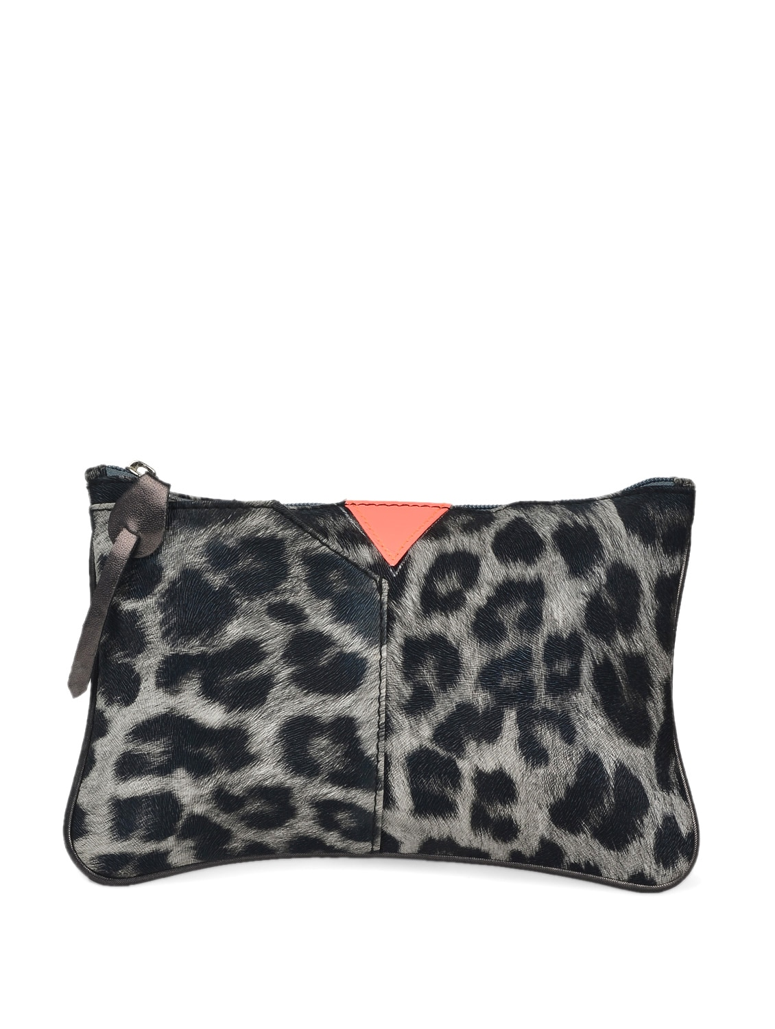 Black And Grey Leopard Print Small Pouch - HARP