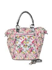Pink Floral Print Tote Bag - HARP