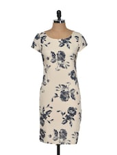Rose Abstract Printed Bodycon Dress - Magnetic Designs