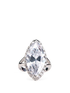 Sterling Silver Diamond Ring - Tanya Rossi, Italy 9068