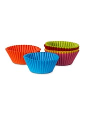 Silicone Large Muffin Cups (Set Of 6) - Wonderchef