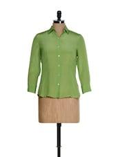Light Green And Blue Shirt - Kaaryah