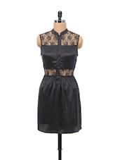 Black Detail Lace Dress - Schwof