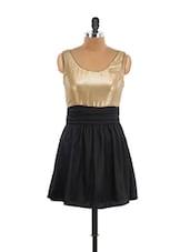 Glittery Gold Black Dress - Schwof