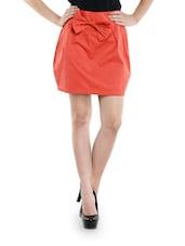 Haute Red Bow Skirt - Schwof