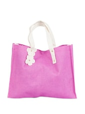 Magenta Jute Handbag - Greenobag