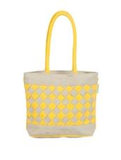 Checkered Beige And Yellow Handbag - Greenobag