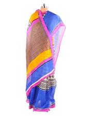 Ultimate Printed Bhagalpuri Silk Saree With Blouse Piece - Riti Riwaz