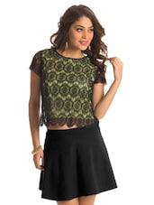 Lime Lace Crop Top - PrettySecrets