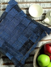 Contemporary Style Origami Blue And Silver Cushion Cover - 13 Odds