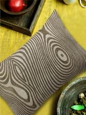 Stylized Khadi & Antique Gold Cushion Cover - 13 Odds
