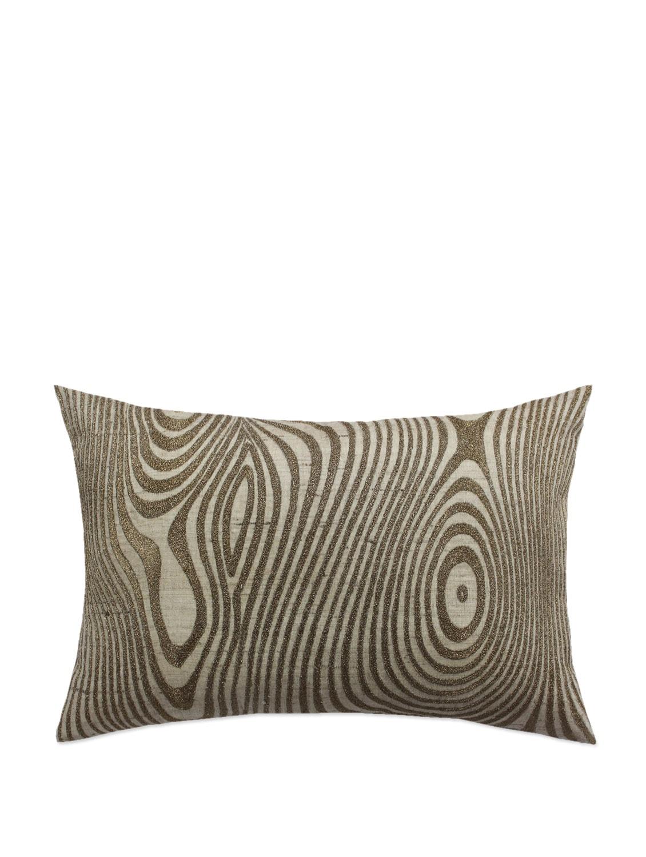 Stylized Khadi Antique Gold Cushion Cover