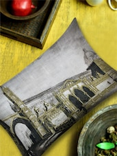 Black & White Print With Gold Highlights Cushion Cover - 13 Odds