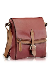 Two-tone Leather Sling Bag - Phive Rivers