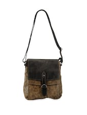 Classic Brown Leather Sling Bag - Phive Rivers
