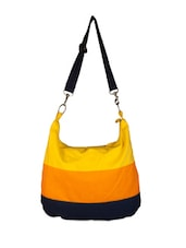 Multicoloured Colour-blocked Casual Bag - YOLO - You Only Live Once