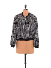 Smart Black Printed Black Jacket - URBAN RELIGION