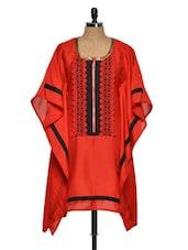 Red And Black Kaftan - NAVYOU