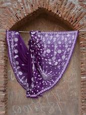 Bright Purple Chikankari Saree - Ada
