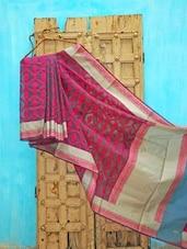 Pink Kora Silk Saree - KAASI