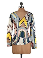 Multi Print Polyester Top - Oxolloxo