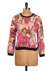 Multi Print Texture Polyester Top - Oxolloxo