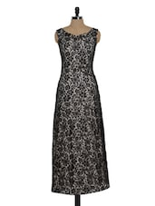 Beige And Black Maxi Dress - Eavan