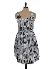 Zebra Print High-low Dress - Eavan
