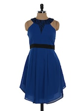 Blue Georgette And Net Dress - Eavan
