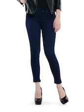Ankle Length Shaded Navy Blue Jeggings - Dashy Club